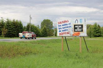 À l'entrée de Saint-Quentin. - Acadie Nouvelle: Simon Delattre