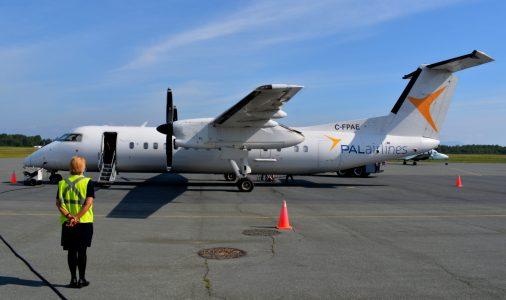 Discrète depuis le début de la pandémie de la COVID-19, la compagnie PAL Airlines a recommencé à la fin juillet à offrir des vols hebdomadaires (2) à partir de l'aéroport de Charlo. - Acadie Nouvelle Jean-François Boisvert