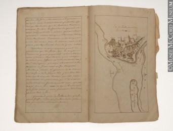 Un des manuscrits de Louis de Courville conservés au Musé McCord de Montréal. – Gracieuseté:Musée McCord