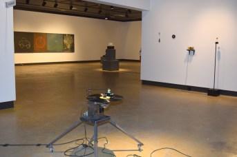 Une partie de l'exposition Auto sapiens de Christian Michaud. - Acadie Nouvelle: Sylvie Mousseau