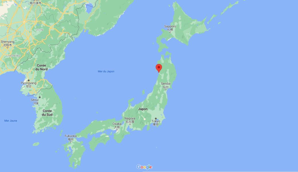 Akita est une municipalité ayant le statut de ville au Japon. C'est de là qu'est originaire Matsui Takehiro. - Gracieuseté: Google Maps