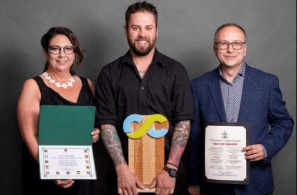 Jacob Woods d'East Coast Industrial s'est mérité le prix de Jeune entrepreneur de l'année. - Gracieuseté: Photographie Franky