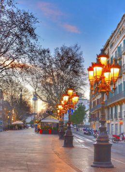 Amanecer en Barcelona