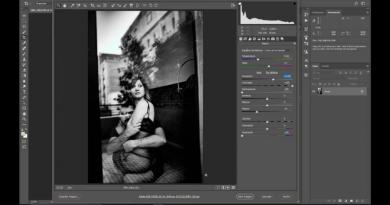 videotutorial imagen en blanco y negro de alto contraste