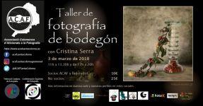 Taller de fotografía de bodegón dia 3 de marzo de 2018 con Cristina Serra en ACAF Santa Coloma