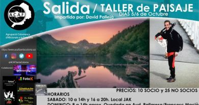 Taller y salida de paisaje a cargo de David Pallejà