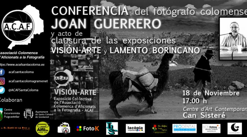 Conferencia Joan Guerrero y acto de clausura de las exposiciones VISION-ARTE y lamento borincano