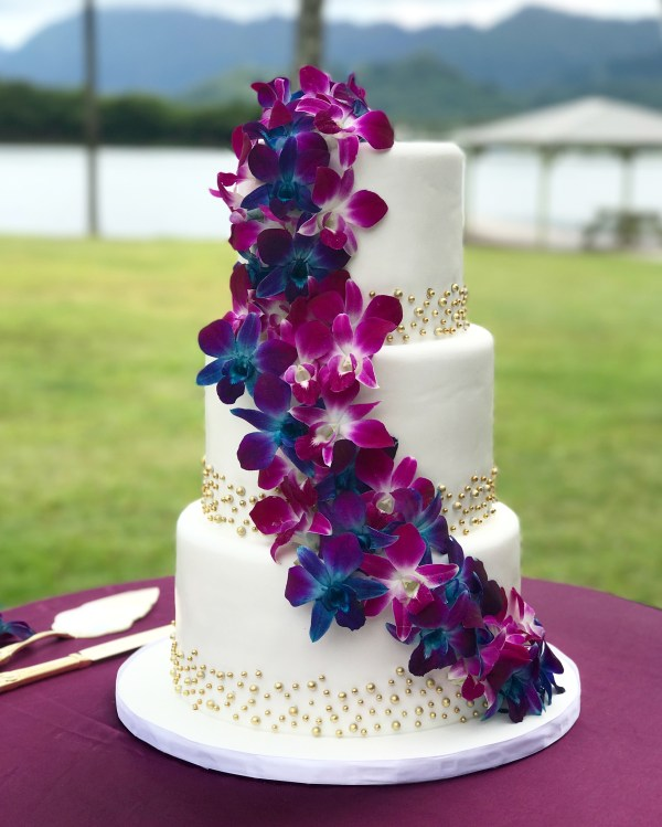 20 Chocolate Wedding Cakes With Blue Orchids Pictures And Ideas On