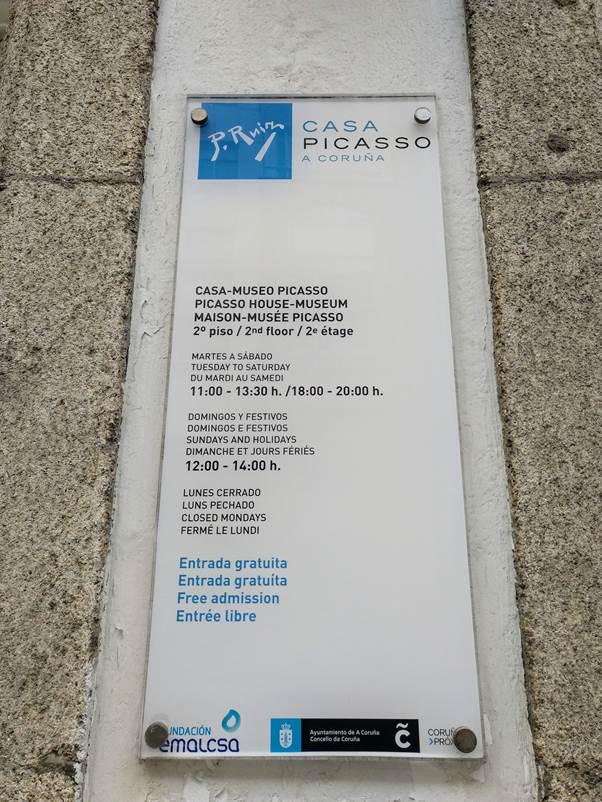 Placa na Casa Picasso