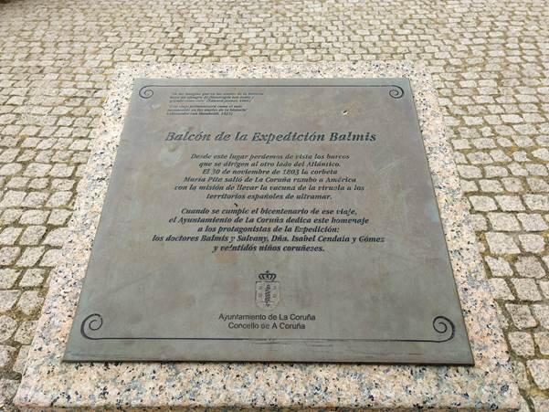 Placa expedición Balmis