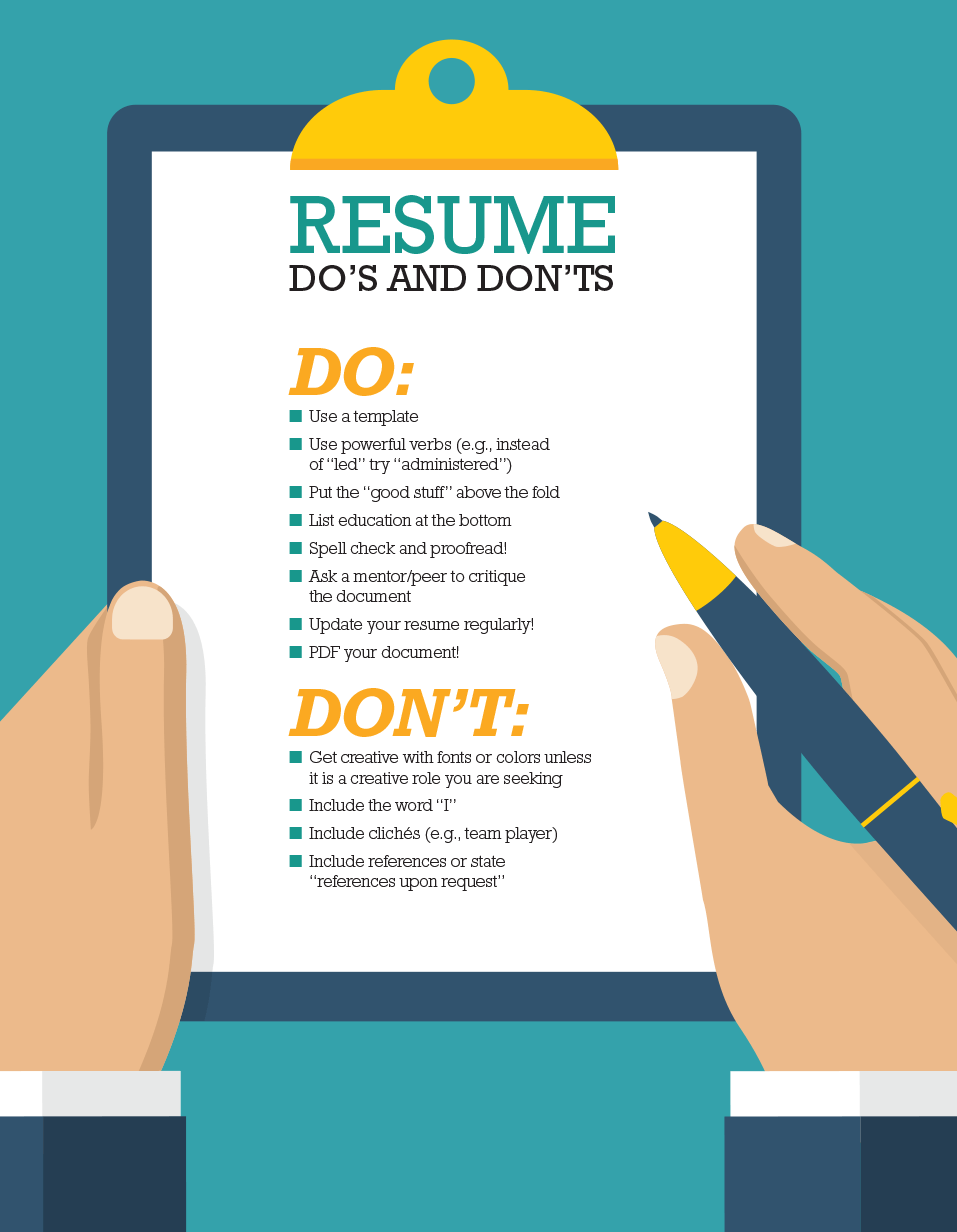 professional resume dos and don'ts