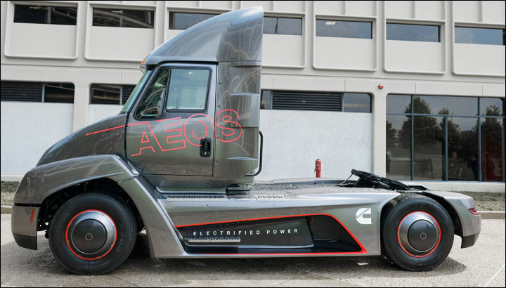 Cummins AEOS electric truck