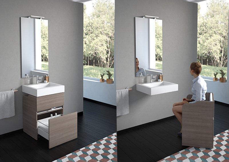 progetto darredo di un bagno per disabili  A Casa di Ro