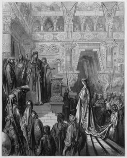 King Solomon received Queen of Sheba