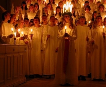 Christmas Choir and Candles