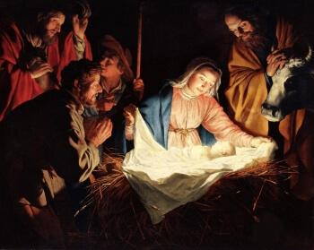 Birth of Baby Jesus - Wallpaper