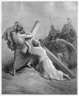 Jesus Falls With the Cross