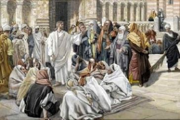 Jesus Teaching and Being Questioned by the Pharisees