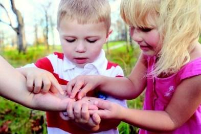little children sharing