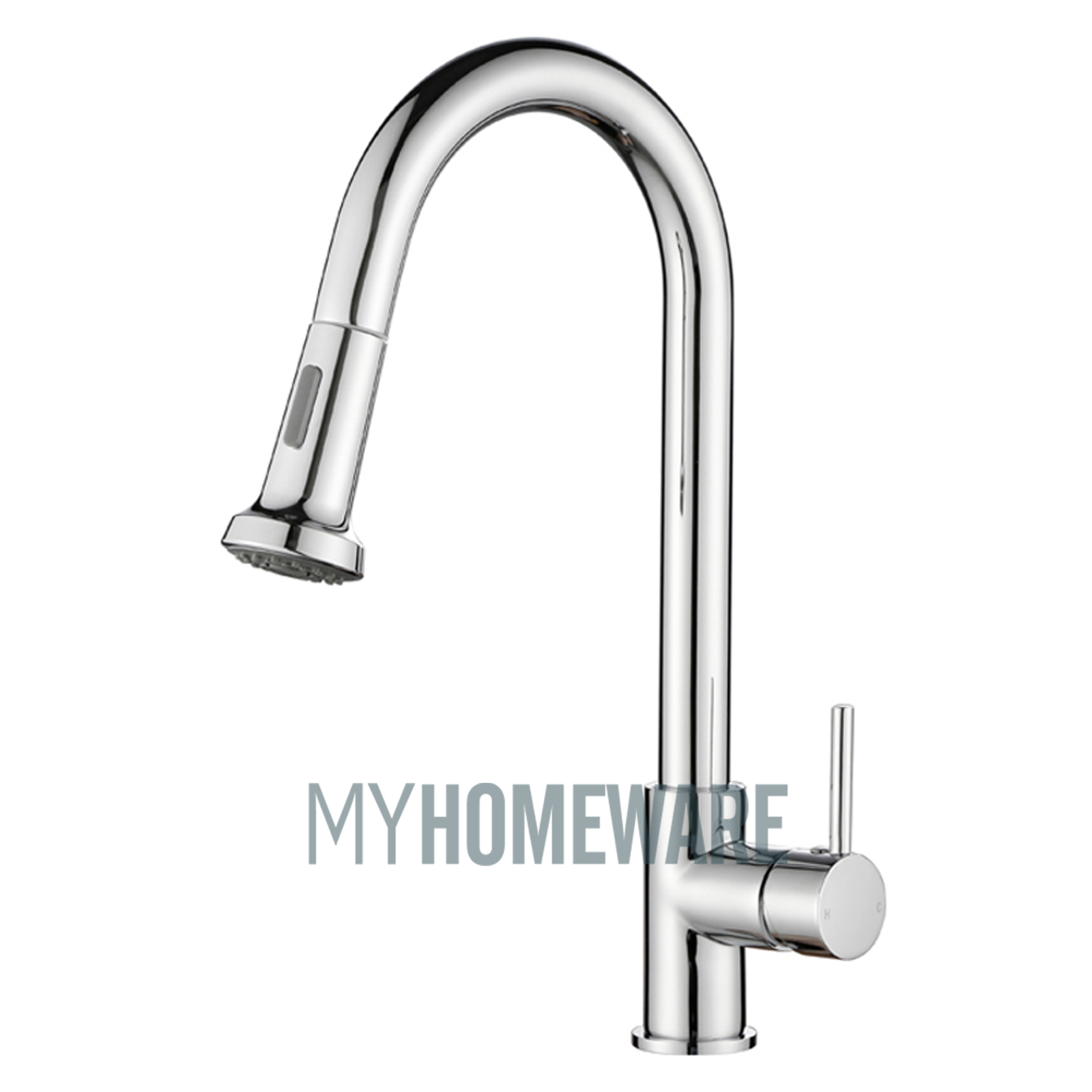 gooseneck kitchen faucet with pull out spray outdoor island aca brass mixer tap