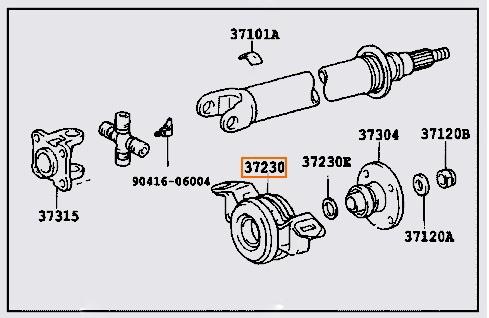 Centre Bearing for Toyota Hilux LN107 LN111 LN61 LN65