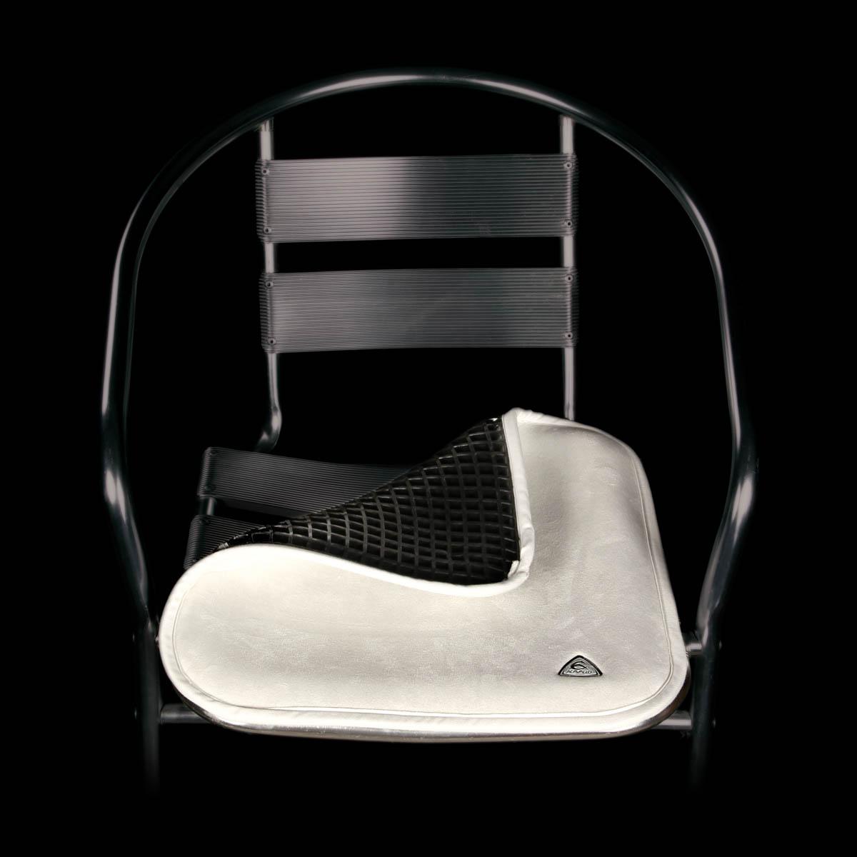 horse saddle seat chair white ladder back gel saver ac002 acavallo