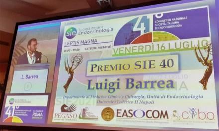 Luigi Barrea è il miglior ricercatore in endocrinologia under 40 d'Italia