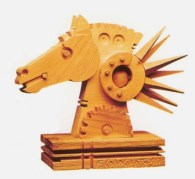 Cavallo - scultura in legno 30x30x12