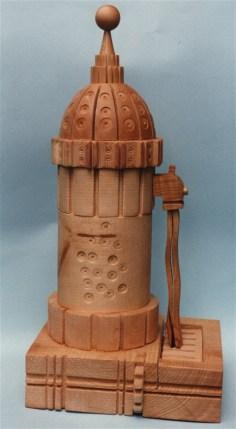 Fontanella - scultura in legno