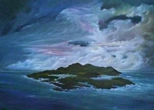 Isola - olio su tela 50x70