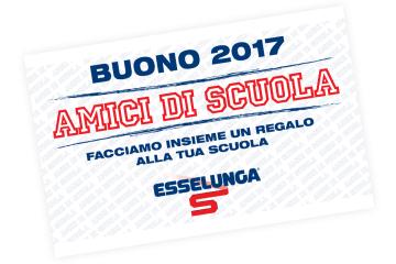 Accademia Pbs/Esselunga Terzo anno con Amici di Scuola 2017 – DALL'11 SETTEMBRE AL 5 NOVEMBRE RACCOGLIAMO I BUONI