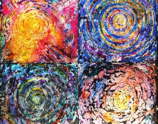 Quatro spirali che formano la quintessenza