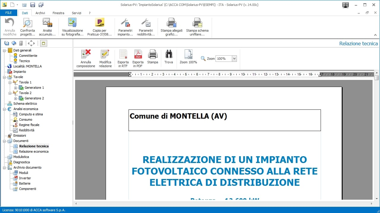 hight resolution of technical report of a photovoltaic system