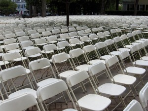 Where the chairs are may impact how successful your speech is