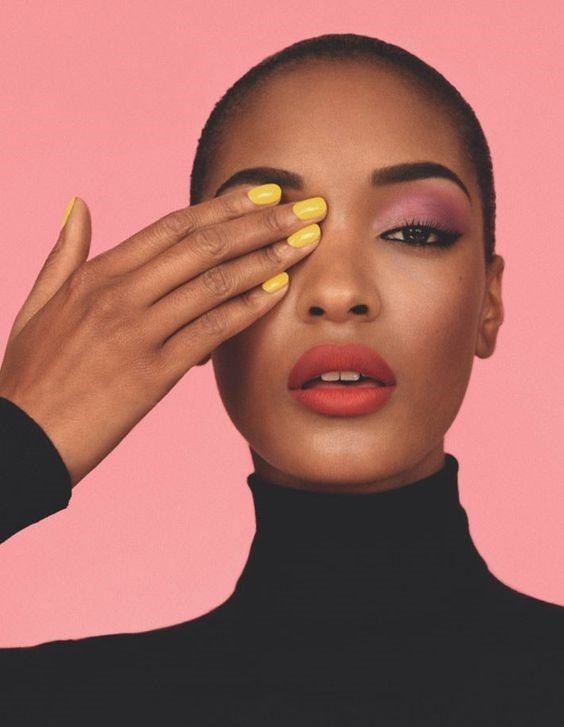 jourdan dunn bold make-up inspo