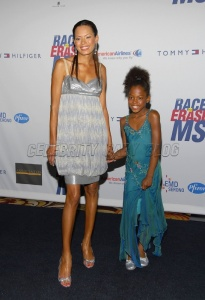 LOS ANGELES, CA - APRIL 13: Actress Keisha Whitaker (L) and daughter True Whitaker arrive at a the 14th Annual Race To Erase MS
