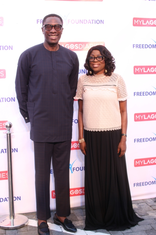 Dr Tony Rapu & The First Lady of Lagos State; Mrs Bolanle Ambode