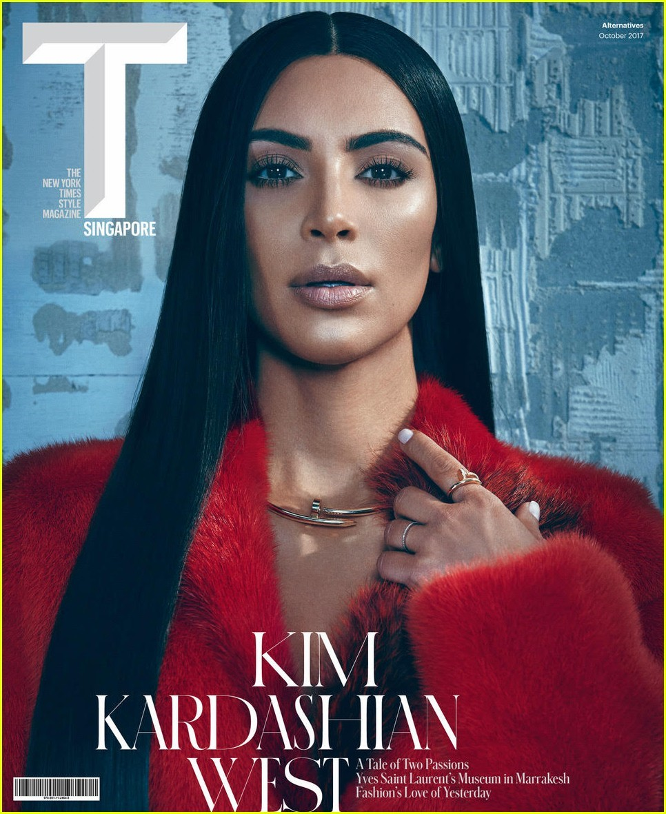 KIM KARDASHIAN on Cover of T Singapore