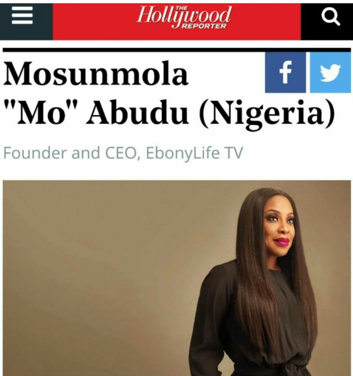 Mo Abudu named one of 25 most powerful women in global TV