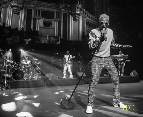 wizkid at his concert in London
