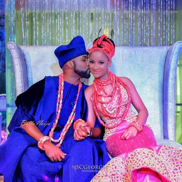 Banky and Adesua Wellington