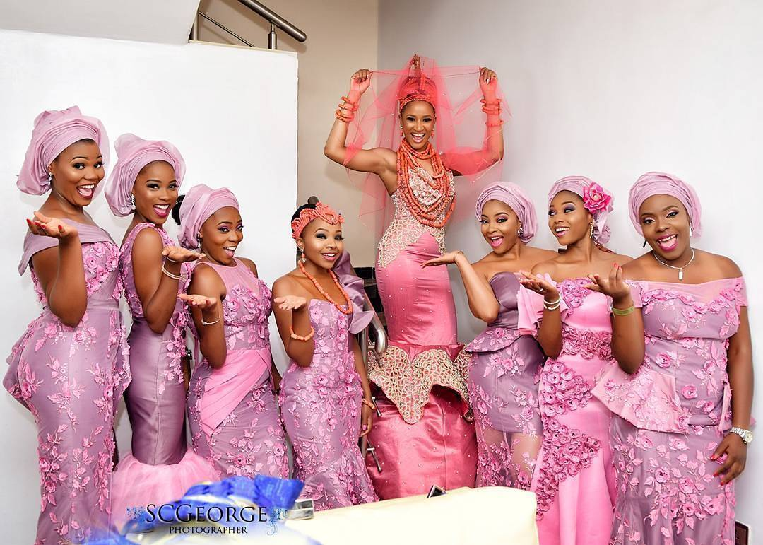 Adesua and her bridemaids