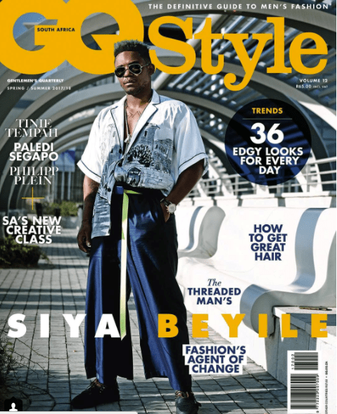 Siya Beyile Covers GQ magazine
