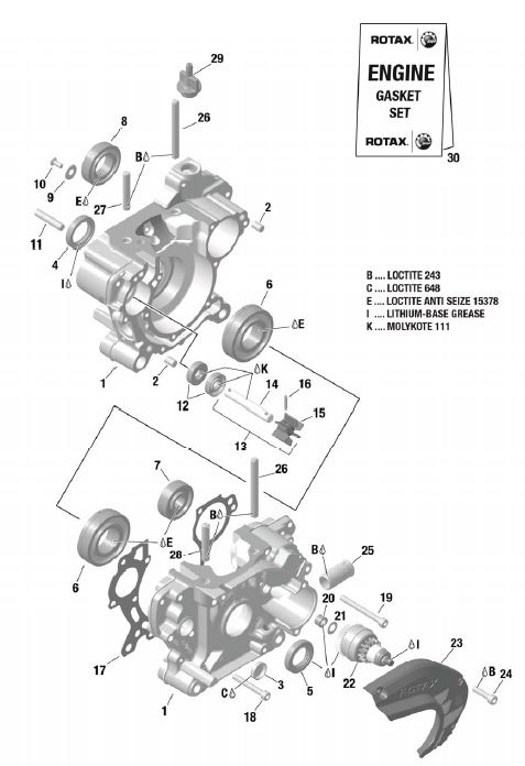 Rotax EVO Parts Diagram (Micro, Mini, Junior, Senior)