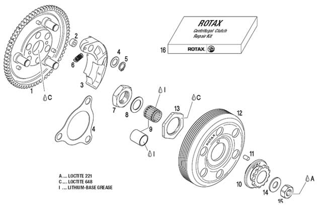 Centrifugal Clutch, Sprocket