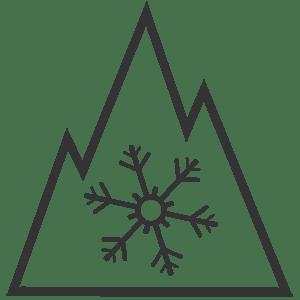kolm mäetippu ja lumehelves