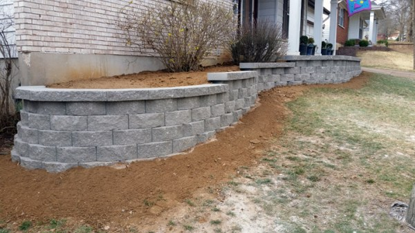 front yard landscape wall