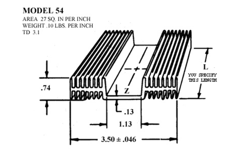 Heatsink 54 :: Accel Thermal Extruded Aluminum Heatsinks