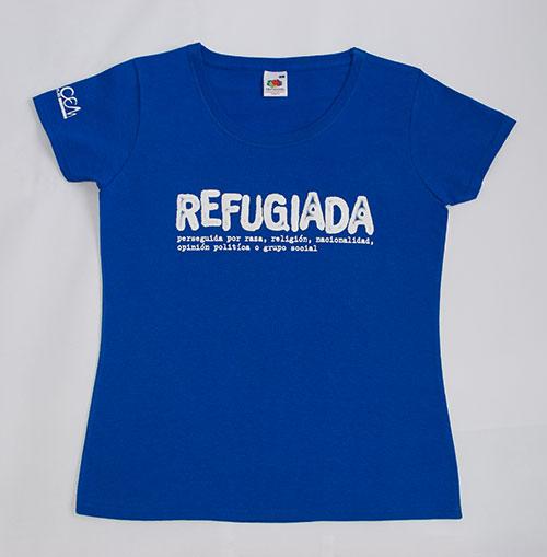 Camiseta_azul_letra_Blanca_Mujer