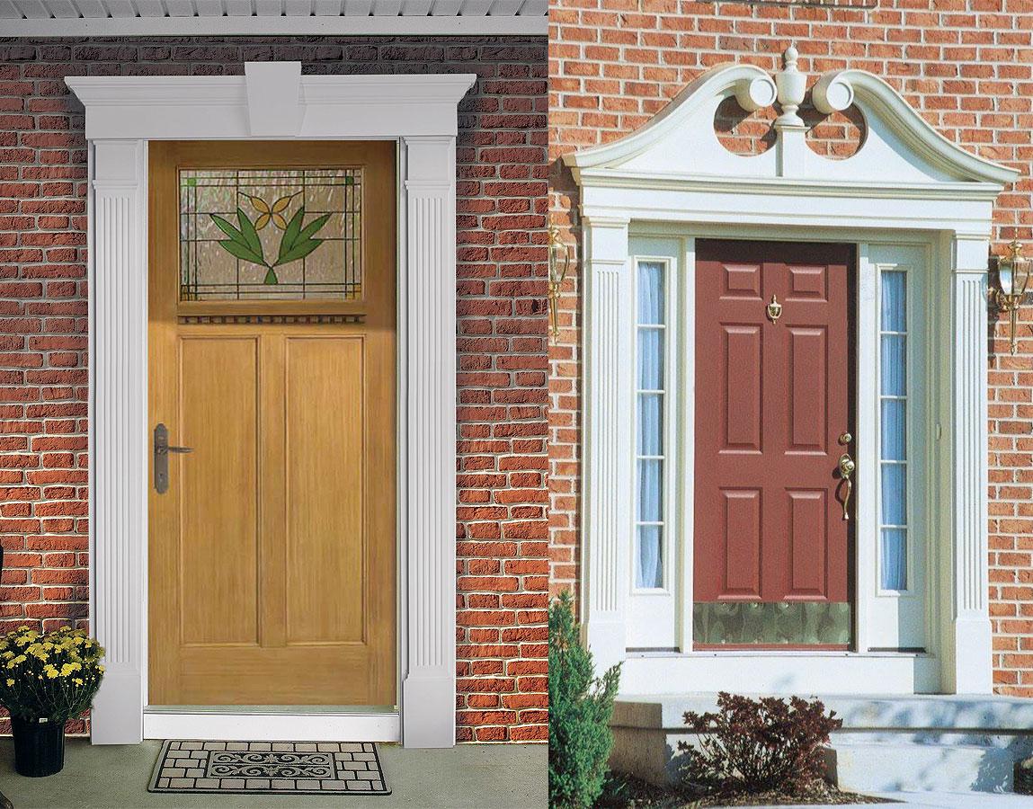 Charmant Exterior Door Pediments
